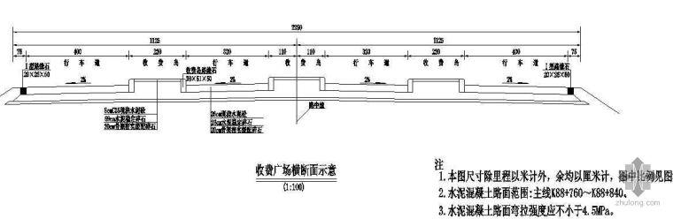 某二级公路收费站路面结构设计图
