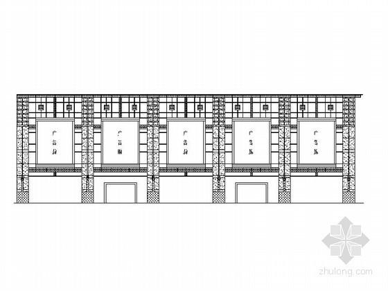 某商场外立面幕墙工程方案图