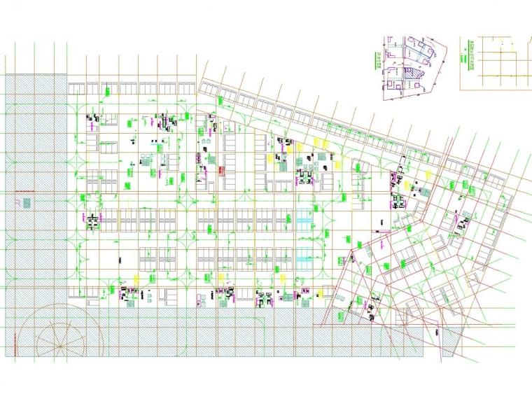 [河北]高层国际商贸城空调通风防排烟系统设计施工图(采暖设计)