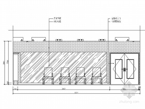[安徽]时尚售楼处室内设计装饰CAD施工图(含效果)会议室立面图