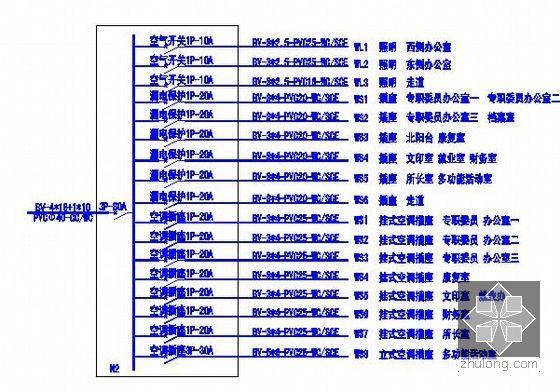 [安徽]综合服务中心装饰工程预算书(附施工图纸及软件文件)-电路系统图