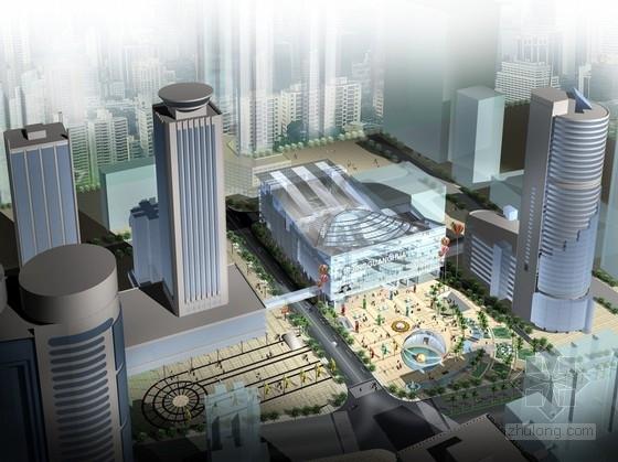 [广东]8层大型波形贝壳体采光顶商业楼建筑设计方案文本(含详细CAD图纸)