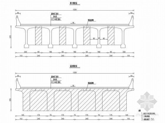 [福建]直线桥35米预应力连续T梁通用图30张
