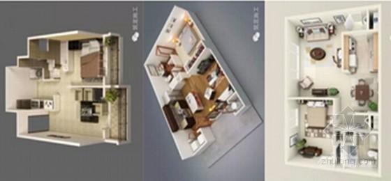 建筑装修工程36款小户型3D设计案例