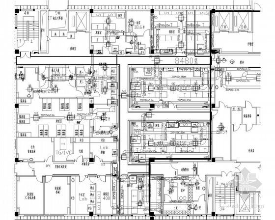 [江苏]动物饲养楼洁净空调通风系统设计施工图(全新风系统)