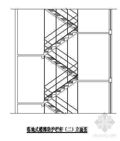 落地式楼梯防护栏杆构造示意图(二)