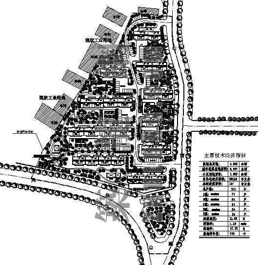 某旧村改造规划设计总平面图