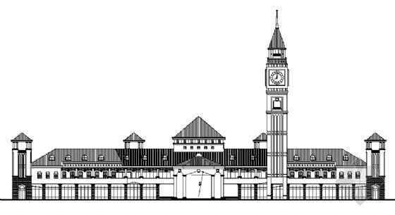 世紀英倫1號地塊某二層會所建筑方案圖