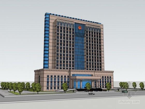 行政办公楼建筑sketchup模型