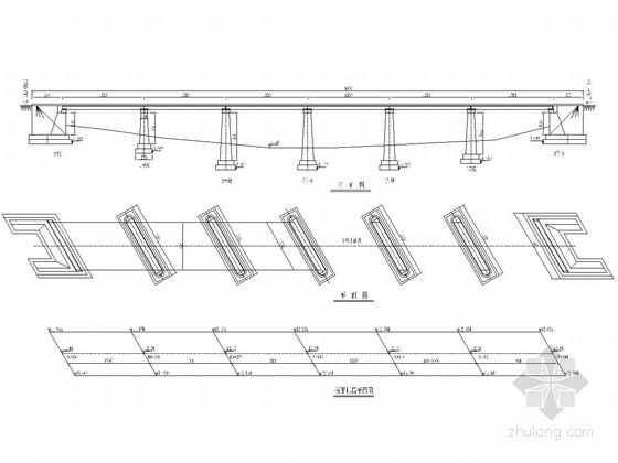 7x30m斜交钢筋混凝土板桥全套施工图(24张)