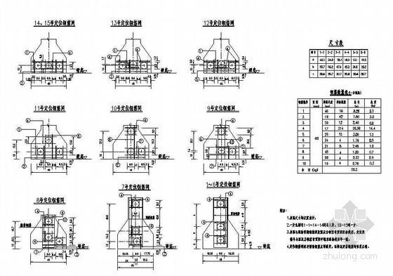 30m预应力混凝土连续T梁边跨边梁预应力钢束定位钢筋布置节点详图设计