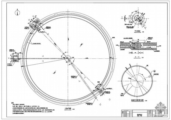 东莞某污水处理厂沉淀池及配水井建筑、结构专业设计图