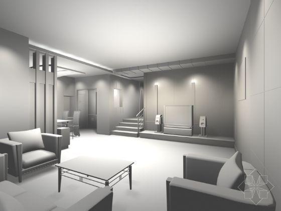 客厅模型-7