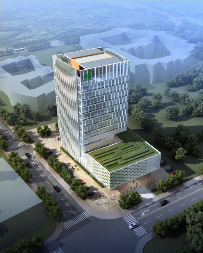 [江苏]现代风格穿插式办公服务中心建筑设计方案文本