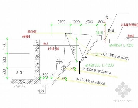 [安徽]土钉墙基坑支护施工图