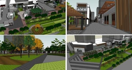[陕西]田野乡趣绿景城中村设计方案(知名设计院所)-景观改造规划效果图