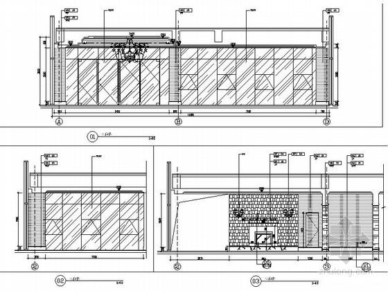 [苏州]工业园林区复合型商业综合体社区中心装修施工图(含效果)大堂立面图