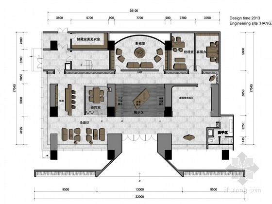 [杭州]CBD核心區綠色生態時尚現代售樓部設計方案