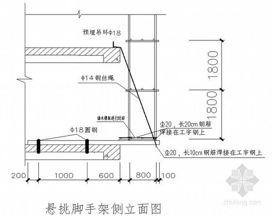 [河南]框架结构图书馆工程脚手架施工方案(落地式双排脚手架)