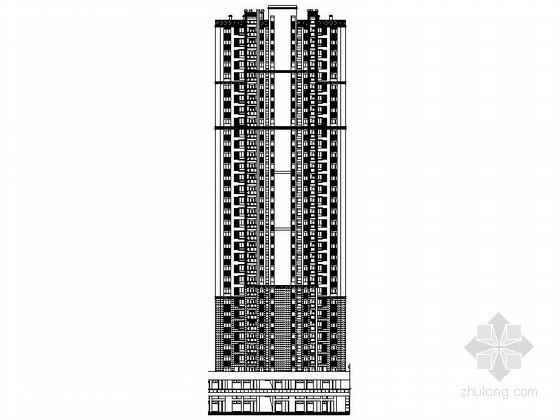 [武汉]某三十三层一梯四户住宅楼建筑施工图(2、3、6、7号楼)