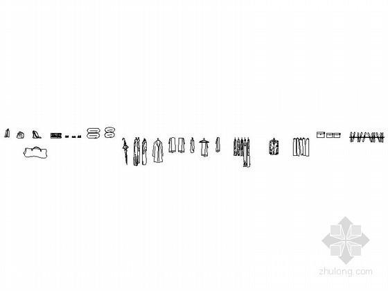现代风格衣柜饰物CAD图块下载资料图纸总缩略图