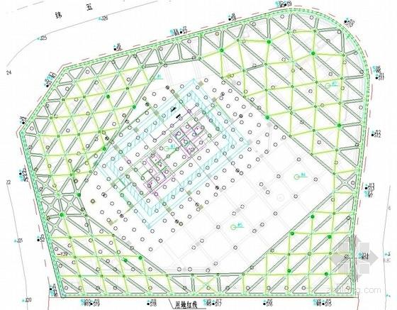 [福建]16米深基坑排桩加两道混凝土内支撑支护施工图(通过专家论证)