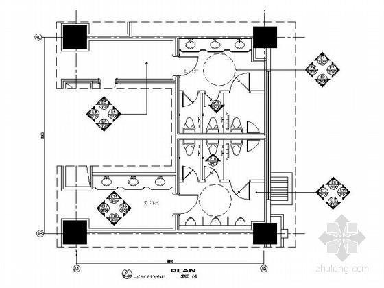 [昆山]五星级酒店卫生间室内装饰设计施工图(含效果)