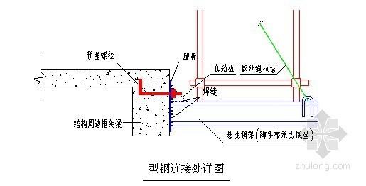 螺栓连接型钢悬挑脚手架应用技术总结