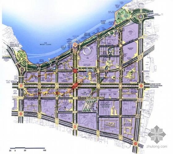 杭州市某街区总体设计规划