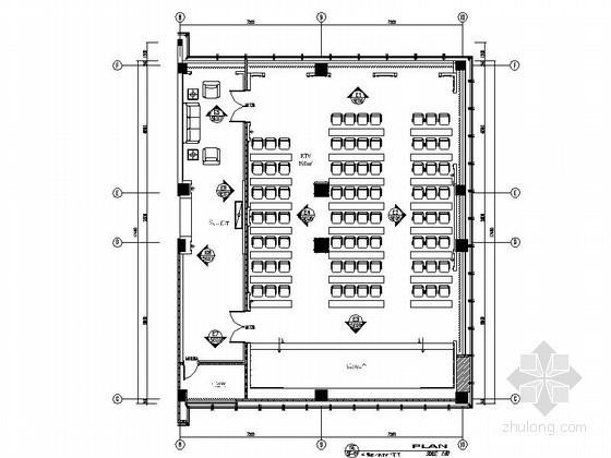 某办公楼多功能活动室装修图