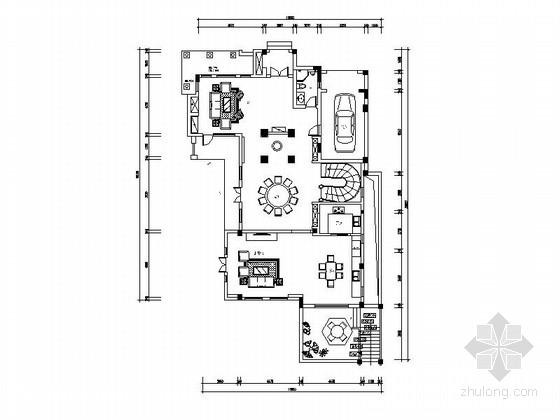 [苏州]独栋豪华双层别墅室内装修施工图(含效果)
