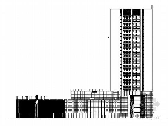 [河北]超高层框架结构幕墙商业综合体建筑施工图