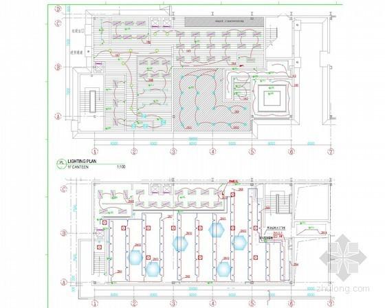 两层办公室装修工程电气施工图纸