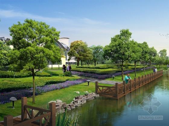 滨河景观带PSD分层素材下载