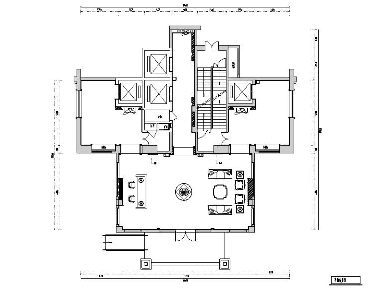 欧式风格名城电梯厅设计施工图(附效果图)