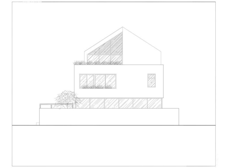 越南胡志明白色方块住宅-28