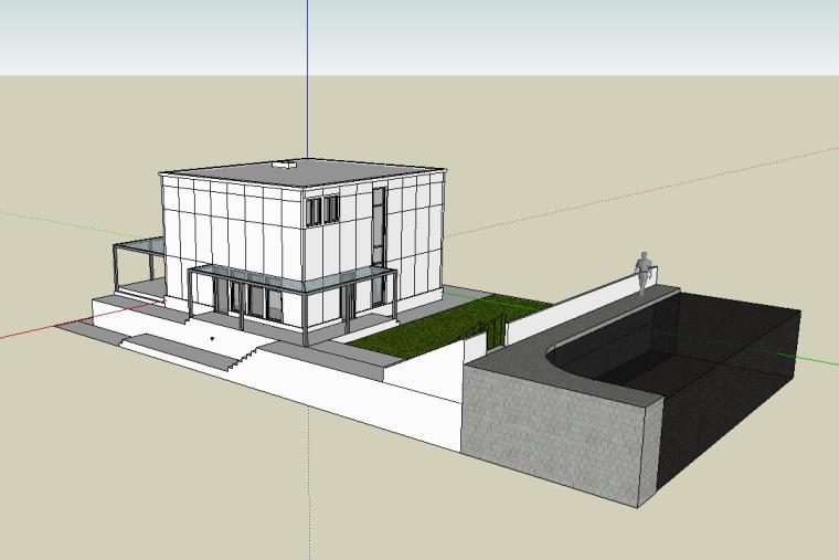 建筑设计大师格罗皮乌斯住宅SU模型
