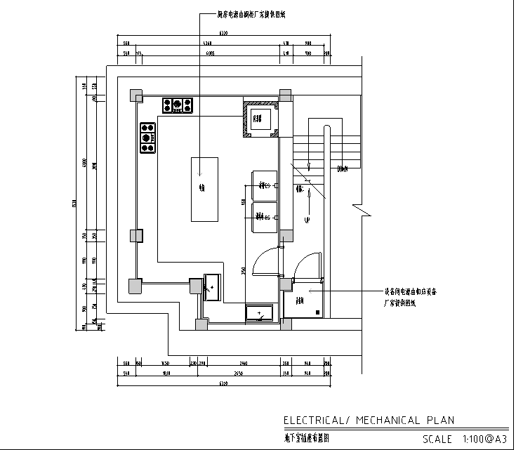 地下室插座布置图
