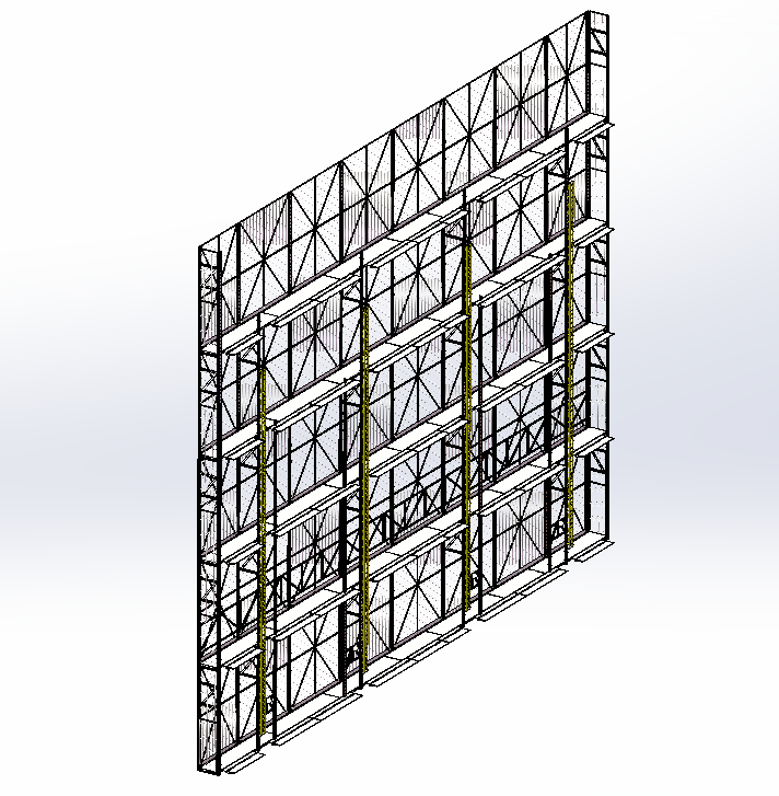 整体式全钢爬架