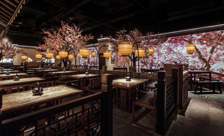 桃花里·绿茶中餐厅北京店 | 卧野空间事务所