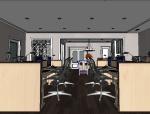 北欧风格办公室成套SU模型
