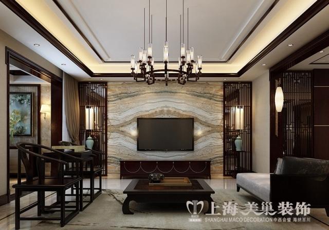 武汉东湖国际270平装修案例新中式风格设计