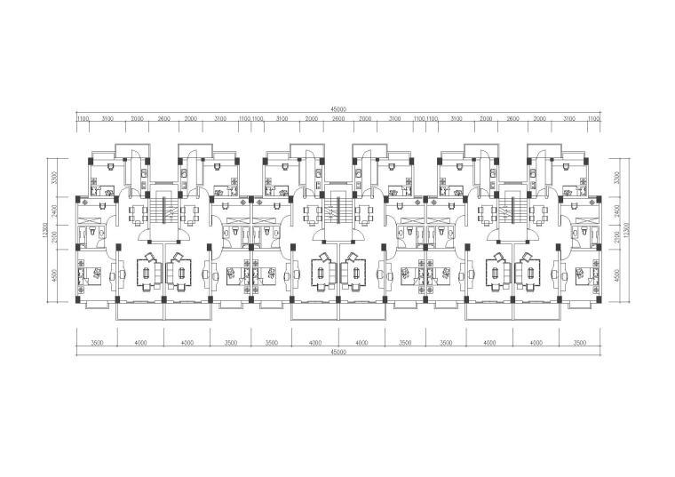 [合集]100套住宅小区及独栋别墅经典户型图(CAD)