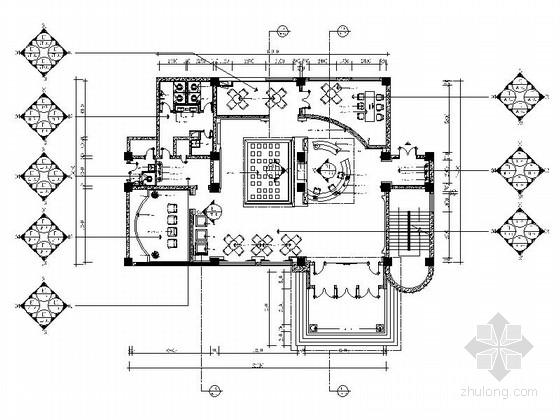 [长春]核心地段现代风格售楼处CAD装修图