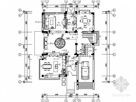 [苏州]水岸社区典雅新中式三层别墅装修施工图