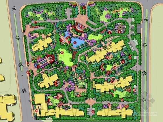 [武汉]美式贵雅华府居住区景观规划设计方案(知名设计单位)