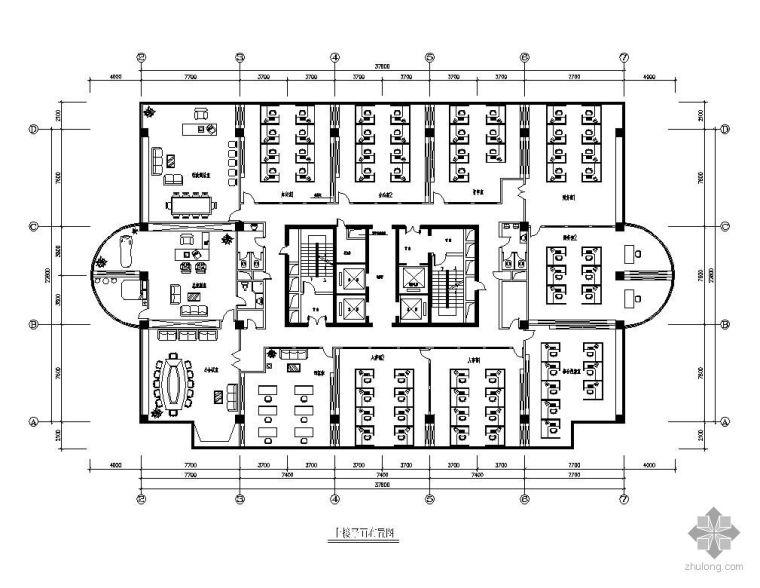 [惠州]某大厦办公楼平面设计图