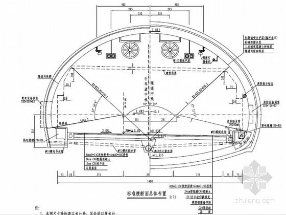 [浙江]知名大院设计双向六车道一级公路工程施工图149页(含隧道)