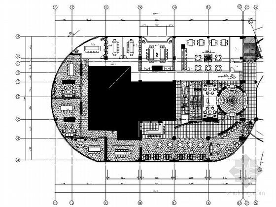 [福建]国际游艇会所西餐厅装修施工图(含效果)
