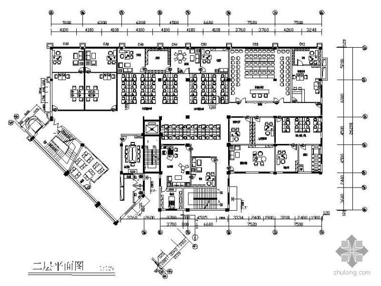 [深圳]某保险公司办公空间装修图_1